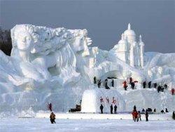 Сътвориха най-голямата ледена скулптура