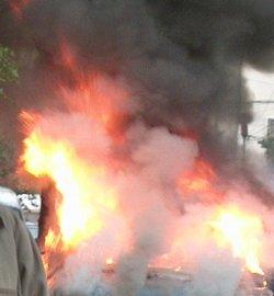 Пожар горя в столицата, има пострадал човек