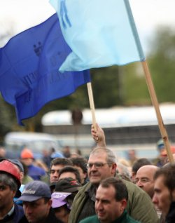 """Металурзи от """"Кремиковци"""" протестират"""
