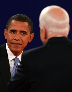 Разликата между Маккейн и Обама се топи