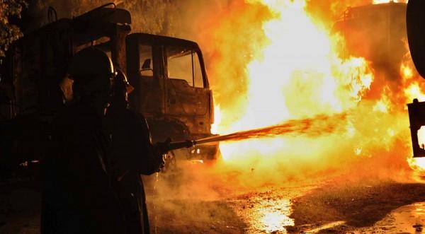 Резултат с изображение за пожар на нефтен кладенец