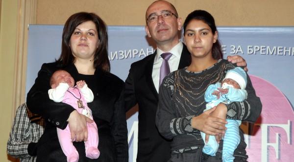 Здравният министър ориса бебетата на годината