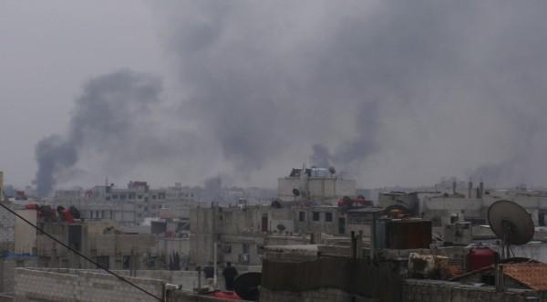 Сирия:  Това е гражданска война. По улицата има тела