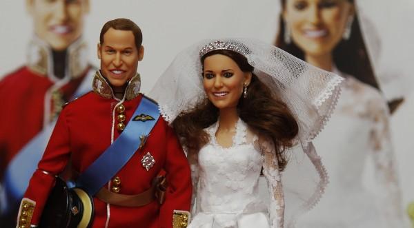 Уилям и Кейт стават на Барби и Кен