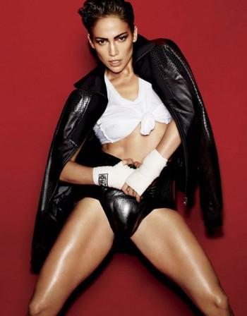 """Дженифър Лопес сложи боксовите ръкавици за сп. """"V Magazine"""""""