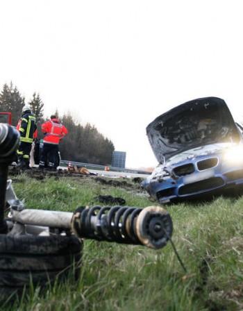 BMW M5 след удар с 300 км/час