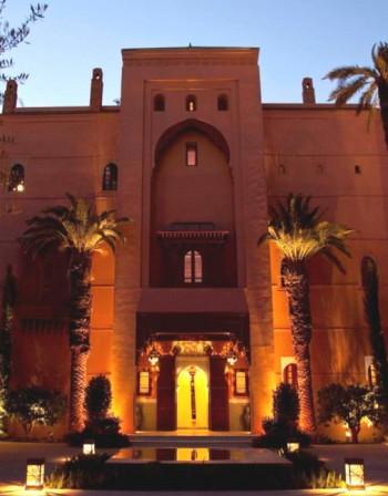 Марокански хотел като екзотичен арабски замък