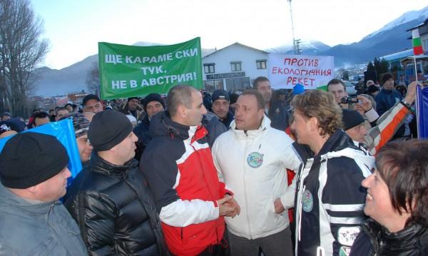 Спират блокадите в Банско след намеса на Цветанов