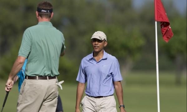 Обама поигра голф с новозеландския премиер