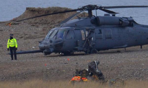 Американски военен хеликоптер се разби в океана