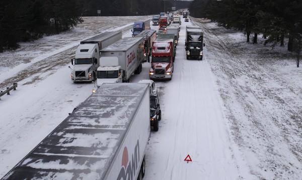 Зимата в САЩ превзе и южните щати