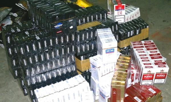"""Контрабандни цигари спипани на ГКПП """"Лесово"""""""