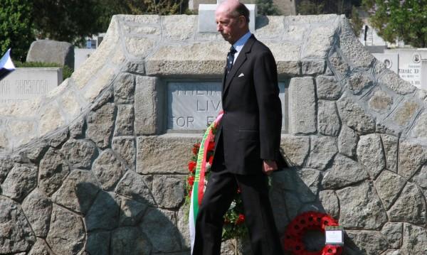 Принц Едуард поднесе венец на Военното гробище в Пловдив