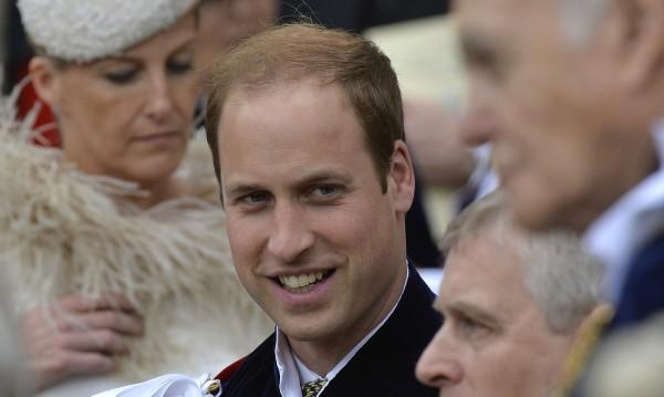 Изобразиха принц Уилям като символ на бащинството