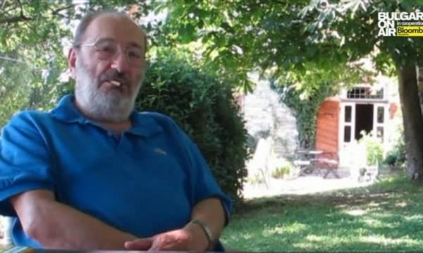 Телевизия България он ер ще излъчи ексклузивно интервю с Умберто Еко