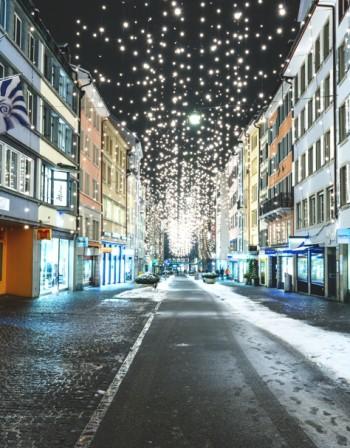 Магията на  Цюрих през зимата