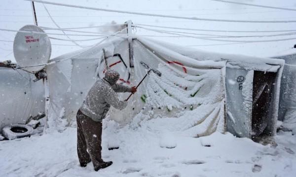 Сняг затрупа Близкия изток