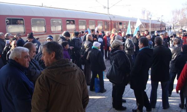И Варна се включи в протестите срещу ликвидацията на БДЖ