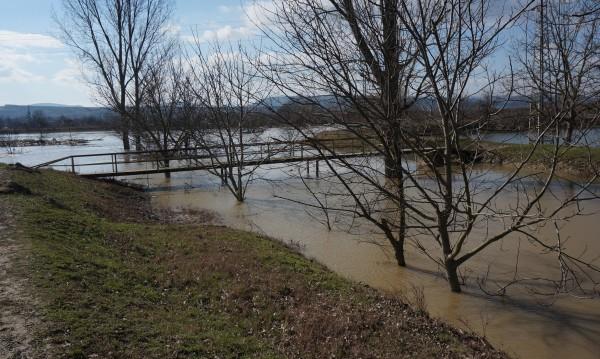 В Русенско водата минава през дигите, наводнени са ниви