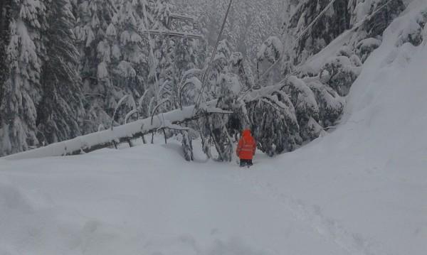 68 900 клиенти на ЕВН все още са без ток заради снега