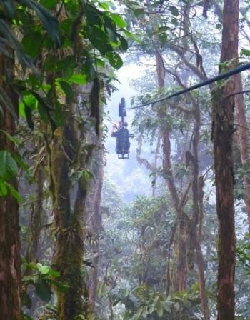Скайбайк из гъстите гори на Еквадор
