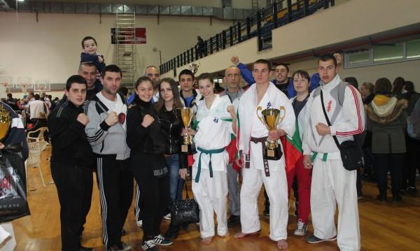 Отборът на Българската карате киокушин федерация с 4 медала