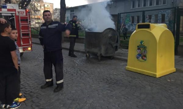 Деца от Пловдив предотвратиха разрастване на пожар
