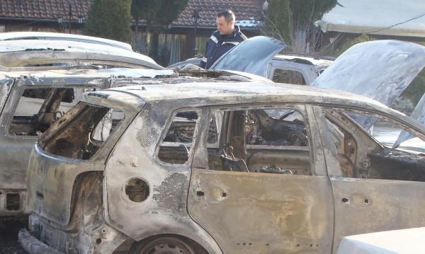 Четири автомобила лумнаха в Пловдив