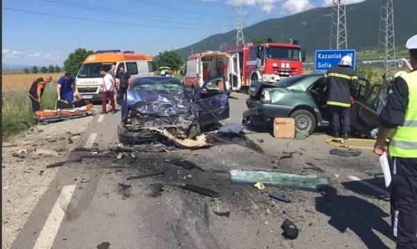 Две деца сред ранените в ПТП-то в Старозагорско