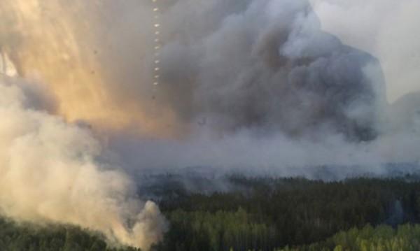 Четвърто денонощие продължава пожарът около Чернобил