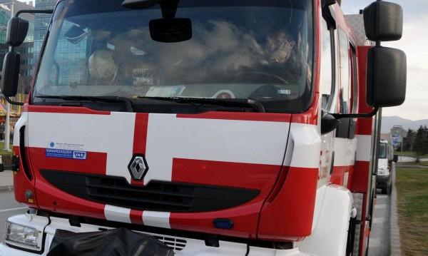 Автобус пламна и изгоря на пътя Русе-Варна