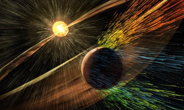 """Атмосферата на Марс """"издухана"""" от слънчеви бури, заплашват ни и нас"""