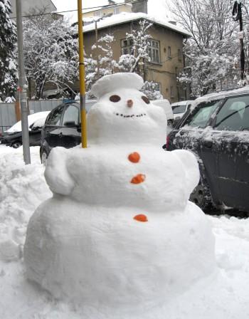 Кметът на Димитровград подкрепя снежни човеци пред общината