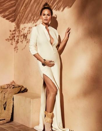Криси Тейгън – стилна, бременна и прелестна