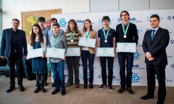 Fibank награди със стипендии ученици от Софийската математическа гимназия
