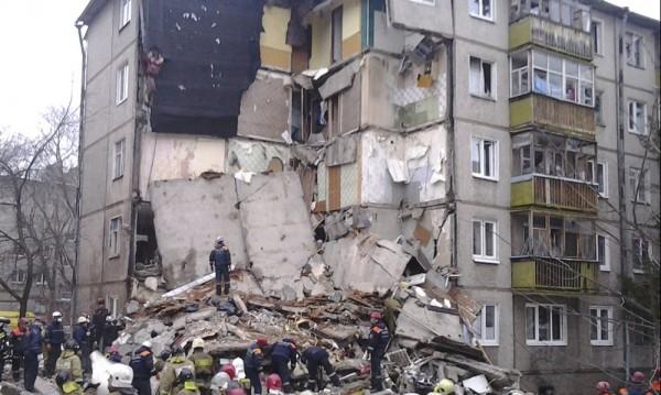 Взрив на газ разруши част от жилищен блок в Ярославъл