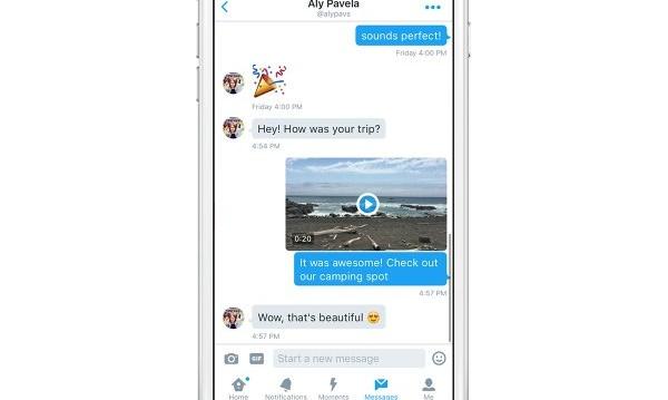 Twitter пуска видеа и GIF-ове директно в съобщенията