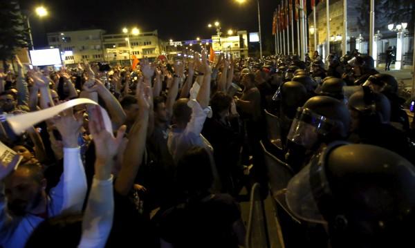 Протестите в Македония не стихват втора седмица