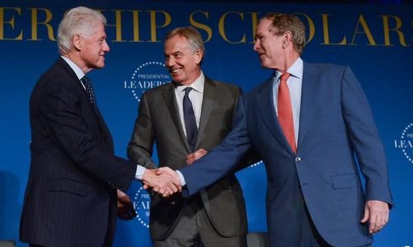 Буря, трима световни лидери... и едно мазе