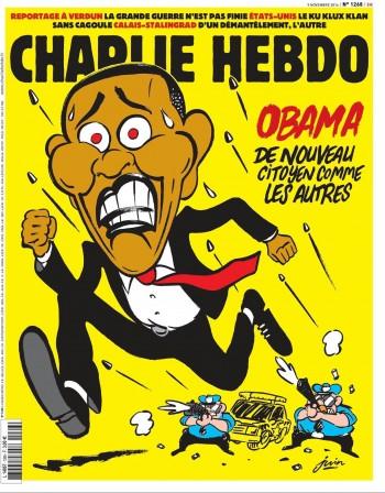 """Шарли Ебдо"" не прощава: Гражданинът Обама"