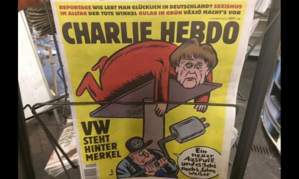"Меркел с нови ауспуси – ""Charlie Hebdo"" на немски"