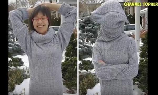 """Пуловер, който ни """"скрива"""" от света"""