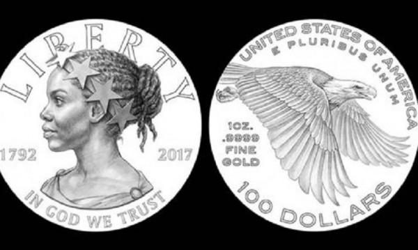 Лицето на свободата в САЩ върху златни монети