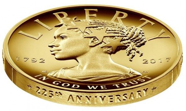 Профил на афроамериканка грейва на USA-монета