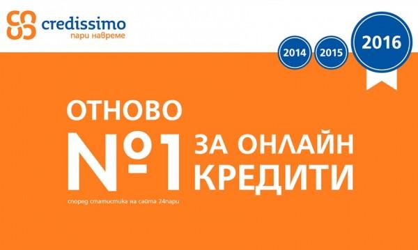 Credissimo отново е №1 за онлайн кредити