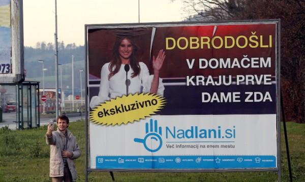 Родното градче на Мелания в Словения ликува