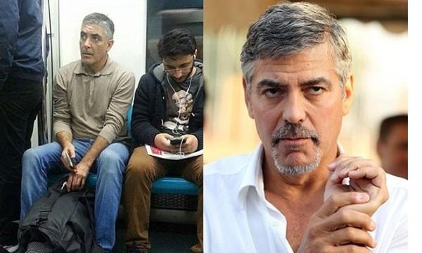 Джордж Клуни в метрото, китайският Путин... Двойници!
