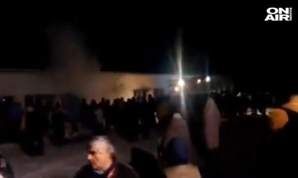 Пожар пламна в бежанския лагер в Харманли