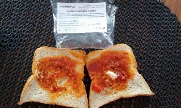 Сандвичът с 2,4 грама сиренце и лъжичка лютеница – питателен!