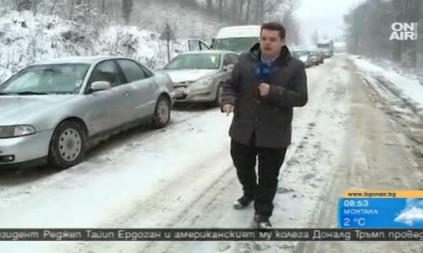 "Шофьори аха да блокират ""Хемус"", снегът ги превари"